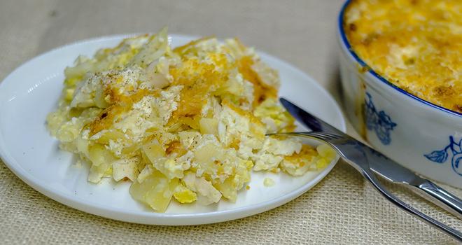 פשטידת תפוחי אדמה ושמנת טעימה עם קרום פריך