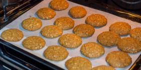 עוגיות קוואקר מוכנות יוצאות מהתנור