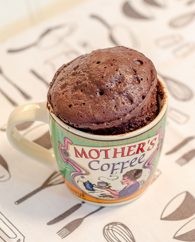 עוגת שוקולד בספל