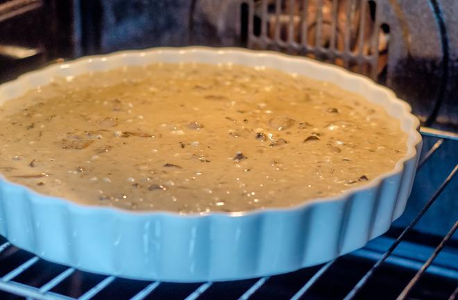 פשטידת פטריות באפייה בתנור