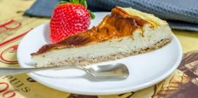 עוגת גבינה ללא סוכר וקמח