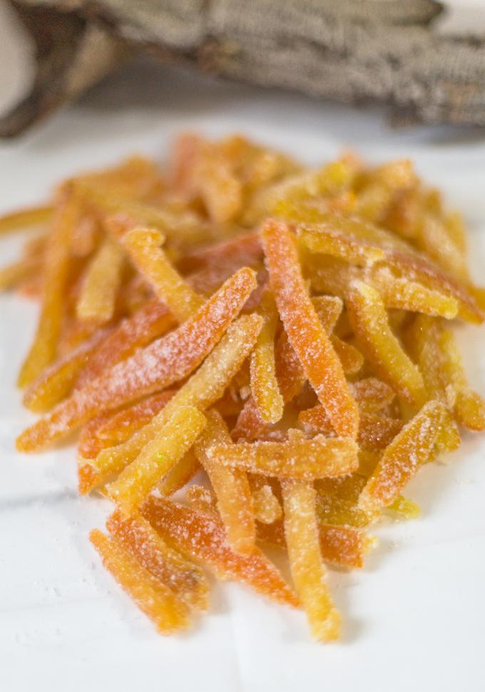 קליפות תפוזים מסוכרות