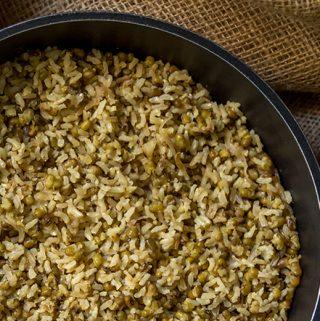 אורז מלא עם שעועית מש תוספת בריאה וטעימה