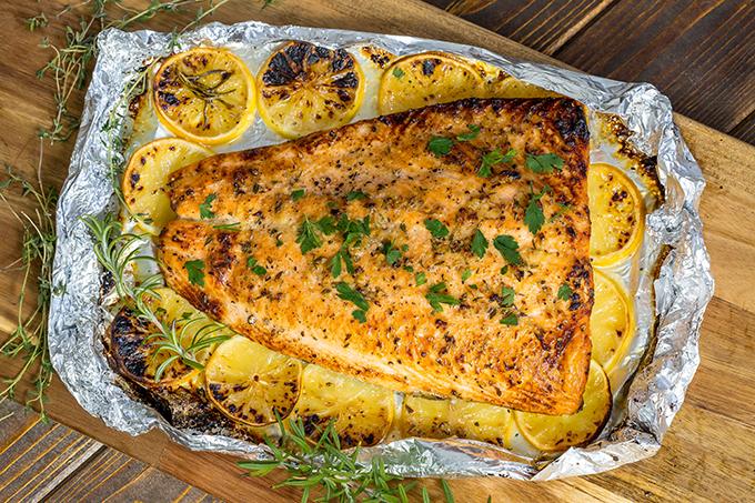 דג סלמון מוכן