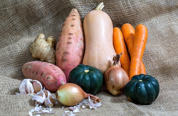 ירקות למרק כתום